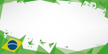 Une carte de voeux avec le thème de drapeau du Brésil Banque d'images - 24155255