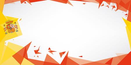 Une carte de voeux avec le thème de drapeau de l'Espagne