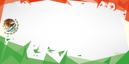 triangle flag: A greeting card with the theme of flag of Mexico