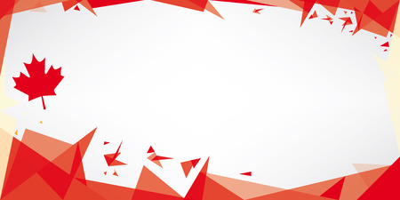 viso: Una tarjeta de felicitaci�n con el tema de la bandera de Canad� Vectores