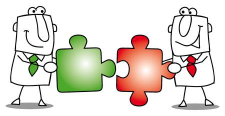 work together: mensen samenwerken