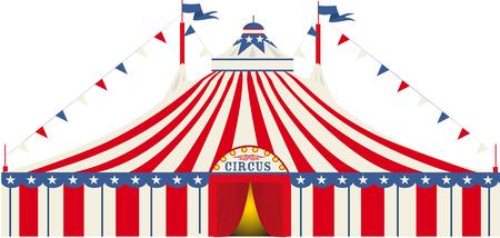 entertainment tent: An American big top circus
