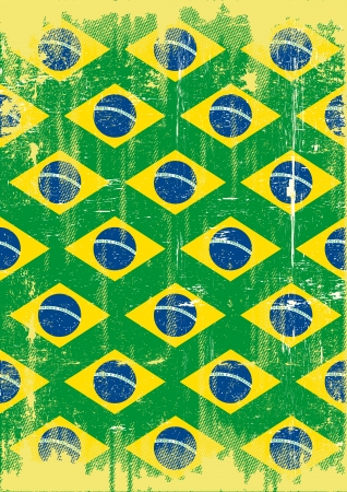 festivities: A poster on brazilian theme for you Illustration
