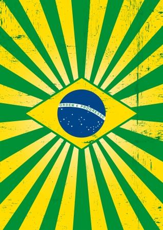 당신을 위해 브라질 테마에 포스터 일러스트