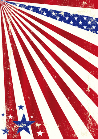A dirty american background for a poster Stock Vector - 24503703