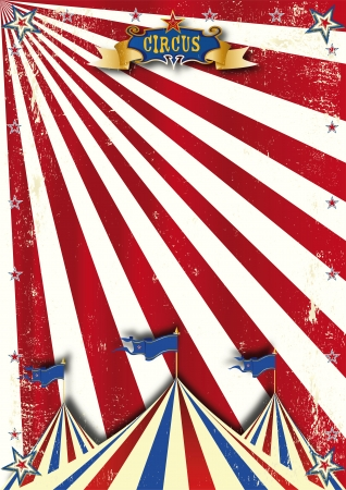 A circus retro background with a texture for your poster Иллюстрация