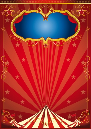 big top tent: A red circus background for a poster  Illustration