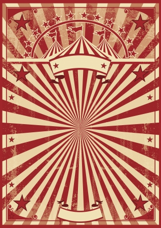 A vintage circus poster for your show Vector