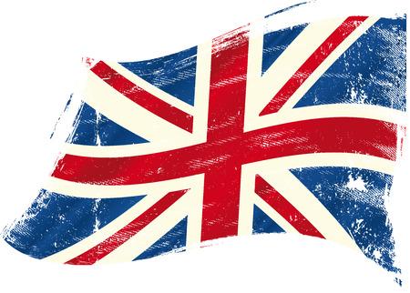 Eine britische Flagge Standard-Bild - 24570290