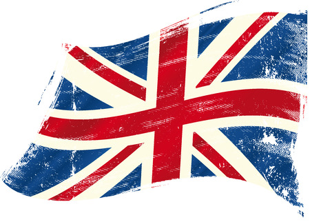 bandiera inghilterra: Una bandiera britannica Vettoriali