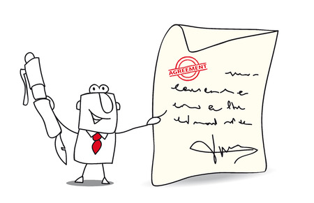 writing letter: A businessman want to sign an agreement