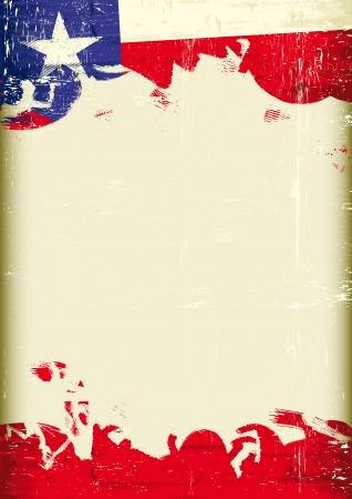 あなたのメッセージを大規模なフレームとテキサス州の旗  イラスト・ベクター素材