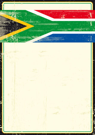 A flag of South Africa on a poster