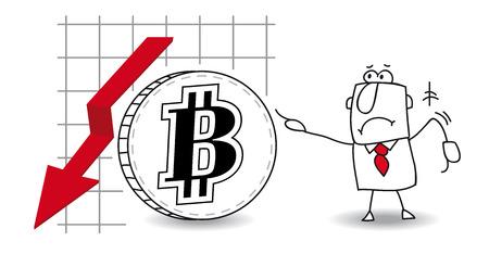 stock trader: fluctuaci�n del bitcoin en el down