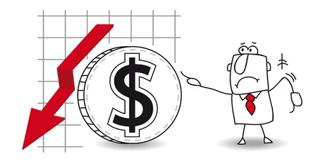 lowering: fluctuation of the Dollar  in the down