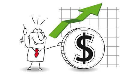 cuenta bancaria: fluctuación del dólar para arriba