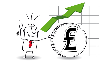 fluctuation: fluctuation of the pound sterling up
