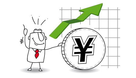 fluctuation of the Yen up Vector