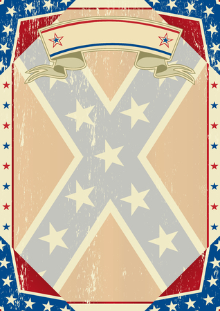 A grunge confederate poster for you Vector