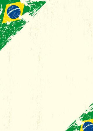 publicity: Una carta con una bandera brasile�a grunge para su publicidad