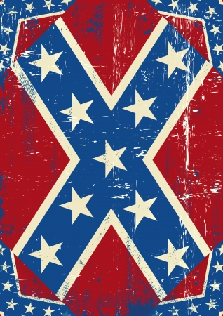 A grunge confederate poster for you