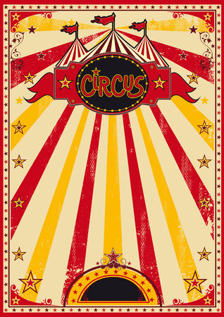 A circus colored posters with sunbeams Stock Vector - 25124058