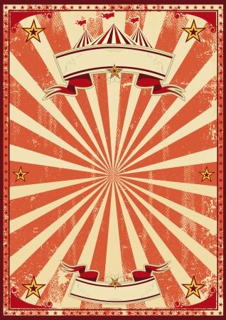 vintage: 紅葡萄酒馬戲團為背景的海報 向量圖像