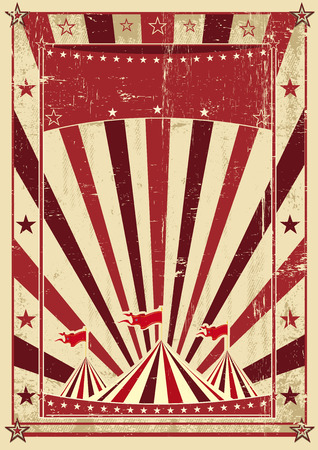 A circus vintage poster for your advertising Stock Vector - 25124063