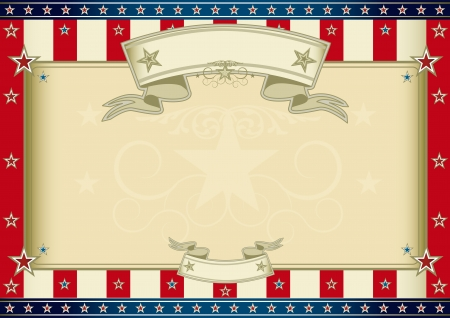 An horizontal american poster for your message  Perfect size for your screen, your  touchpad     Vector