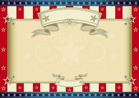american poster: Un cartel americano horizontal para su mensaje Tama�o perfecto para su pantalla, el panel t�ctil