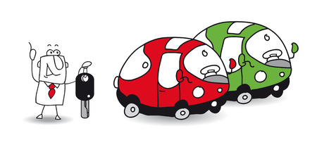 car parking: I want to rent a car  Illustration
