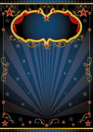 cabaret stage: A luxurious dark background for your entertainment show  Illustration