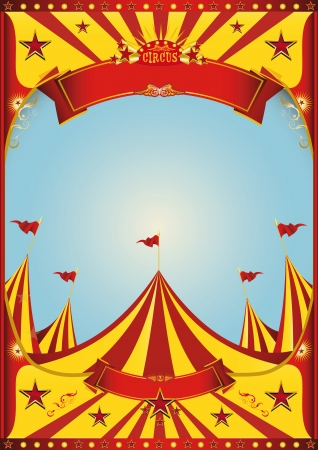 A circus vintage poster with a grunge texture