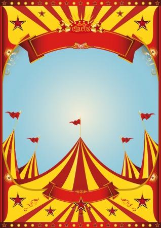 Ein Zirkus-Plakat mit einem Vintage-Grunge-Textur Standard-Bild - 25434341