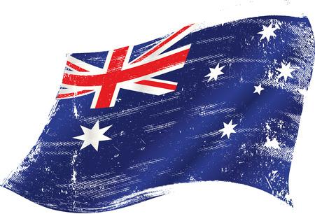 rotting: flag of Australia  Illustration