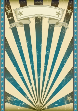 A vintage and retro style blue poster with a texture  Vector