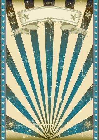 fondo de circo: Un estilo del cartel azul de la vendimia y retro con una textura Vectores