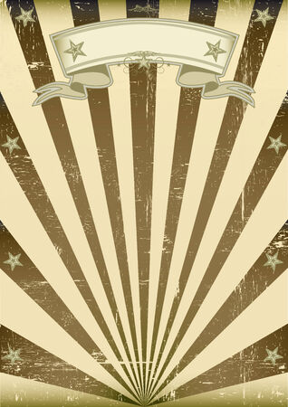 A vintage and retro style brown poster with a texture  Vector