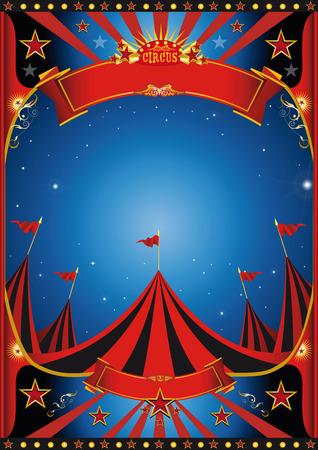 cabaret stage: Cartel de un circo por noche