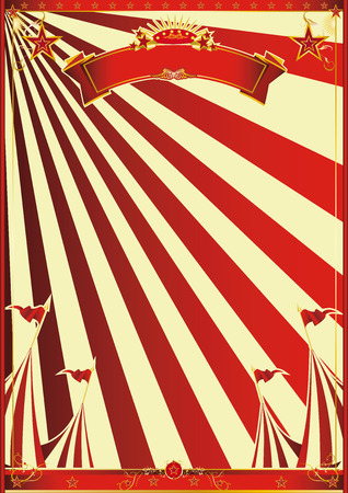 circus poster: A circus poster with red sunbeams for your advertisement