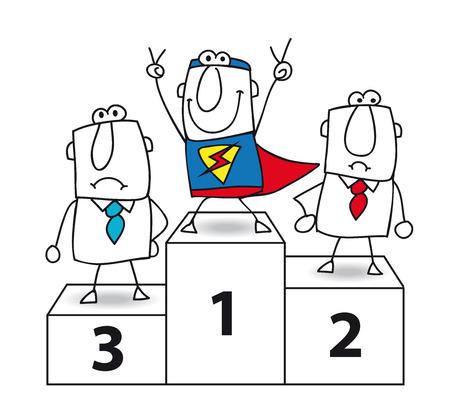 Número uno Y el ganador es empresario de Super Foto de archivo - 25867137
