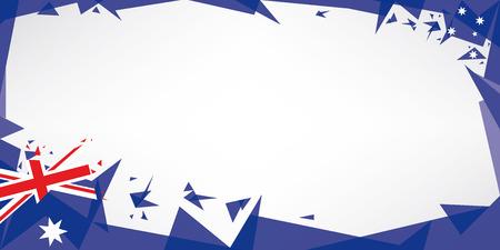 patriotic border: Una tarjeta de felicitaci�n con el tema de la bandera de australia Vectores