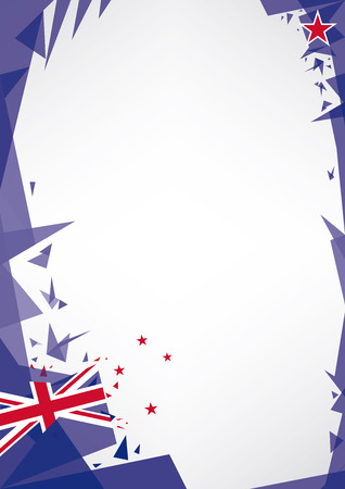 new zealand flag: background origami of new zealand  a design background  Origami style  for a very nice poster