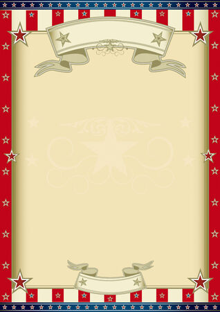 army flag: A vertical american poster for your message