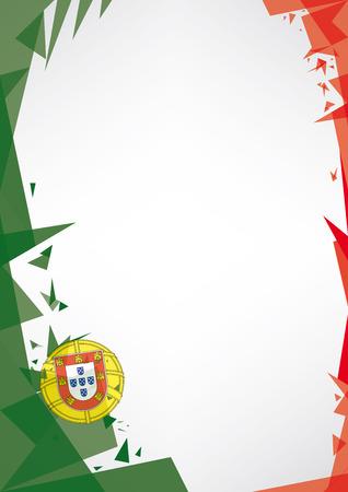 bandera de portugal: fondo origami de Portugal un fondo del estilo de Origami por un cartel muy bonito