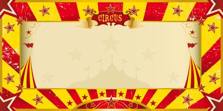 표시: 당신의 쇼 서커스 노란색과 빨간색 초대