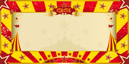 A circus yellow and red invitation for your show Vector