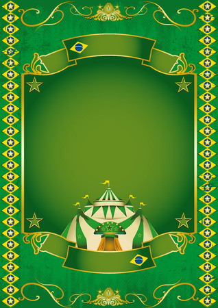 A circus background on brazilian theme Vector