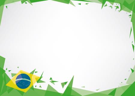 ブラジルをテーマに水平ポスター折り紙スタイル
