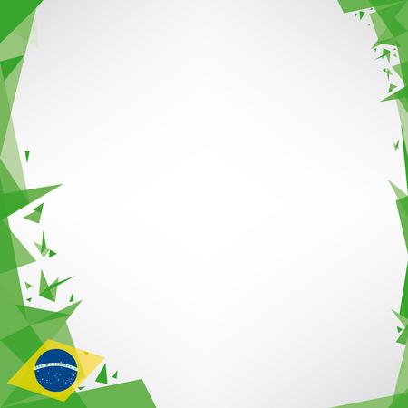 a square design background  Origami style  on brazilian theme Vector